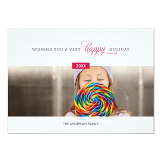 SWEET AND SIMPLE   HOLIDAY PHOTO CARD 13 CM X 18 CM INVITATION CARD