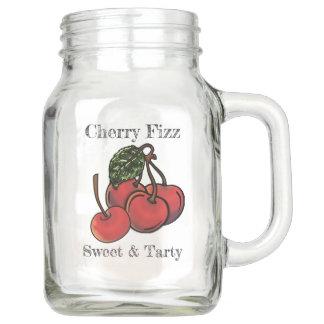 Sweet and Tarty Cherry Fizz (Personalised) Mason Jar