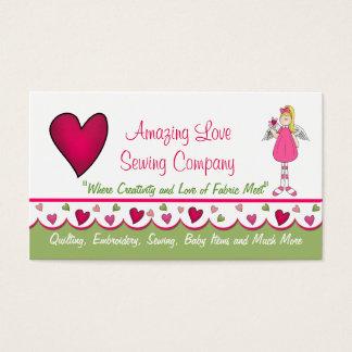 Sweet Angel and Hearts Custom Business Card