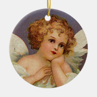 Sweet Angel Round Ceramic Decoration