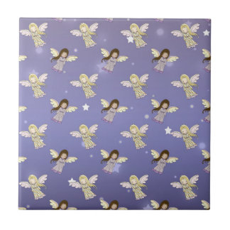 Sweet Angels in the Stars Pattern Tile