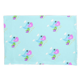 Sweet animal bird family pillowcase