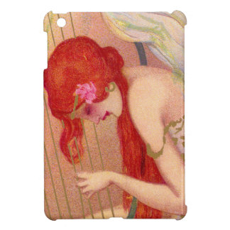 Sweet Antique Redheaded Angel on the Harp iPad Mini Case