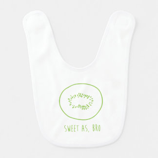 """Sweet As, Bro"" New Zealand Kiwi Bib"