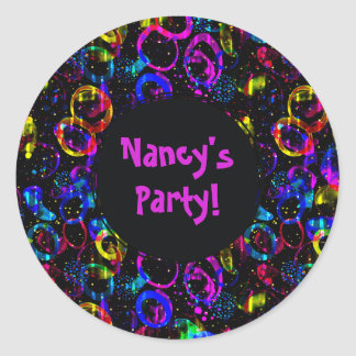 Sweet as Candy Black colorful custom Classic Round Sticker