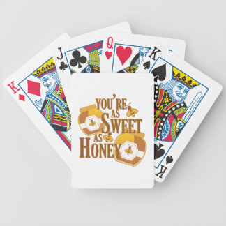 Sweet As Honey Bicycle Playing Cards