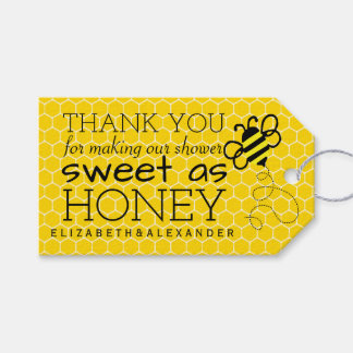 Sweet As Honey Bridal Shower Guest Favor Thank You Gift Tags