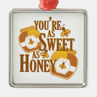 Sweet As Honey Metal Ornament