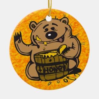Sweet As Honey Round Ceramic Decoration