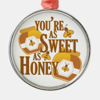 Sweet As Honey Silver-Colored Round Decoration