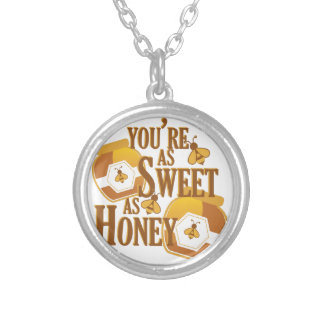 Sweet As Honey Silver Plated Necklace