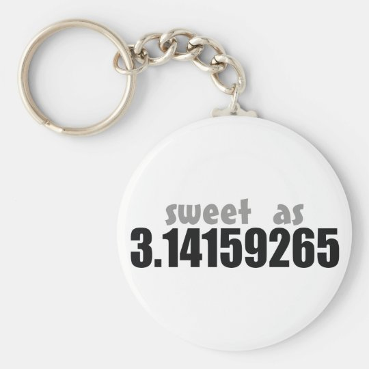 Sweet as Pi Basic Round Button Key Ring