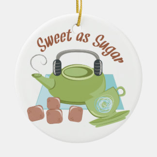 Sweet As Sugar Ceramic Ornament