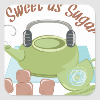 Sweet As Sugar Square Sticker