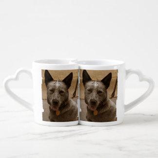 Sweet Australian Cattle Dog Couples Mug