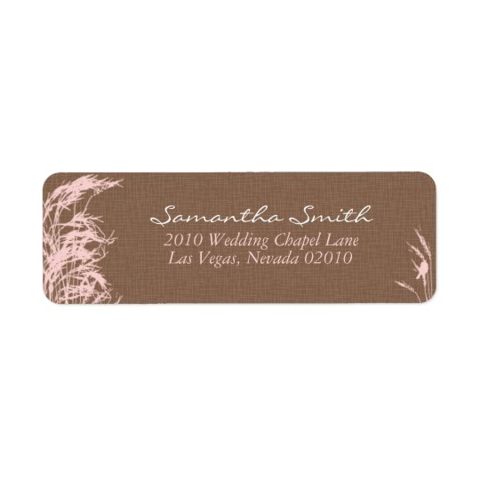 Sweet Autumn Bride Return Label B