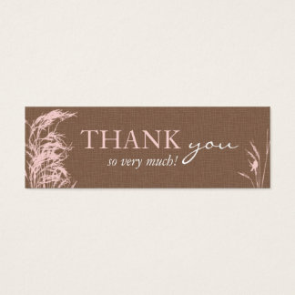 Sweet Autumn Bride Skinny Gift Tag Mini Business Card