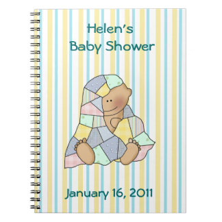 Sweet Baby and Quilt Baby Shower Notebook