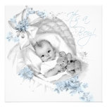 Sweet Baby Blue Bassinet Baby Shower