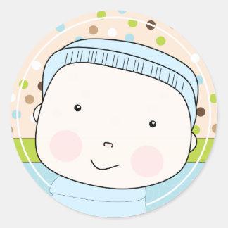 Sweet Baby Boy Envelope Seal Round Sticker