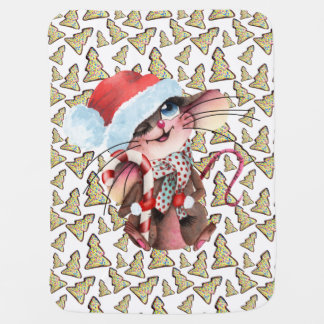 Sweet baby cover for Christmas mice Baby Blanket