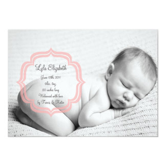 Sweet Baby Girl Birth Announcement