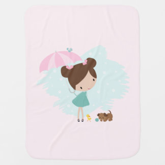 Sweet baby girl blanket in soft pink colors