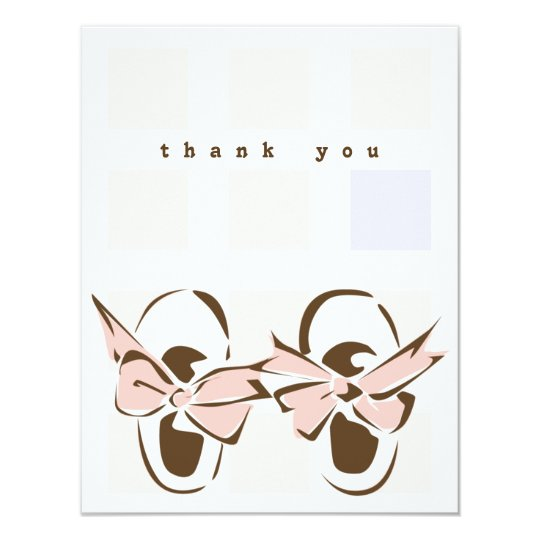 Sweet Baby Girl Shoe Note Card
