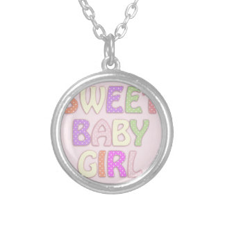Sweet Baby Girl Silver Plated Necklace