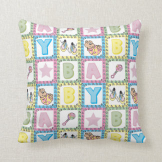 Sweet Baby Girl Squares Throw Cushions