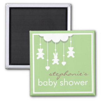 Sweet Baby Neutral Mobile Baby Shower Favor Square Magnet