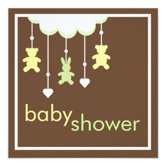Sweet Baby Neutral Mobile Baby Shower Invitation
