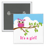 Sweet Baby Owl Baby Shower Button Pinback Button