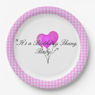 Sweet-Baby-Pink-Floral-Baloon-Celebration_Birthday Paper Plate