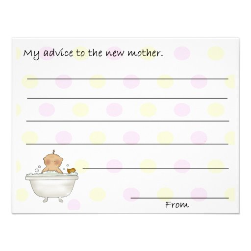 sweet baby shower advice cards 11 cm x 14 cm invitation card zazzle