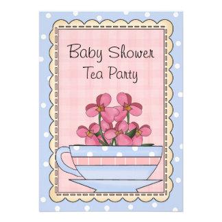 Sweet Baby Shower Tea Party Invitation