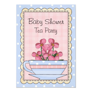 Sweet Baby Shower Tea Party Invitation