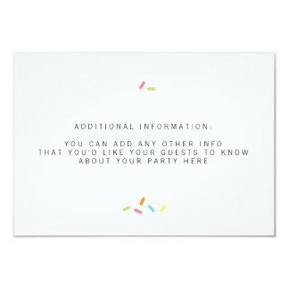 Sweet Baby Sprinkle Insert 9 Cm X 13 Cm Invitation Card