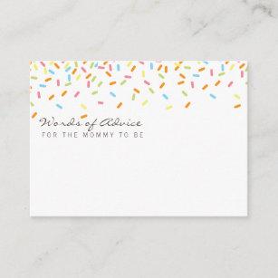 Sweet baby Sprinkle Mummy Advice Cards