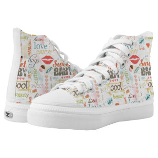 Sweet Baby Text Design Your Color  ID237 Printed Shoes