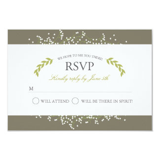 Sweet Baby's Breath Response Cards Invite