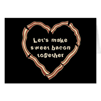 Sweet bacon heart card