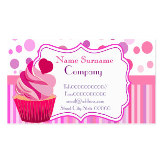 sweet bakery, cupcakes,sweet shop, pastry shop pack of standard business cards