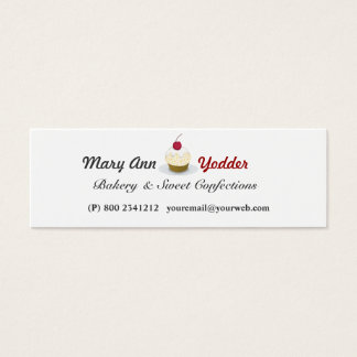 Sweet Bakery  Pretty Cupcakes Baker Confections Mini Business Card