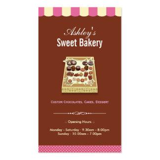 Sweet Bakery Shop - Box of Chocolates Dessert Business Cards