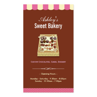 Sweet Bakery Shop - Box of Chocolates Dessert Pack Of Standard Business Cards
