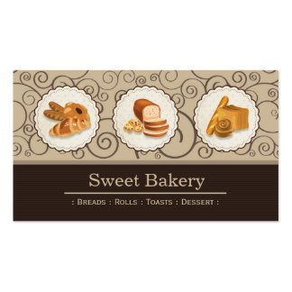 Sweet Bakery Shop - Breads Rolls Toasts Dessert Pack Of Standard Business Cards