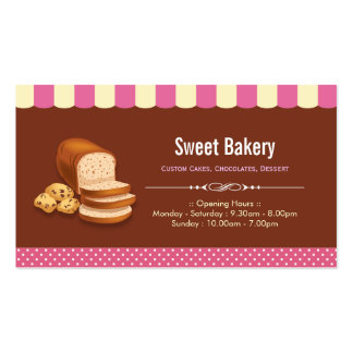 Sweet Bakery Shop - Breads Rolls Toasts Dessert Pack Of Standard Business Cards