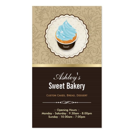 Sweet Bakery Shop - Cupcakes Chocolates Dessert Business Card