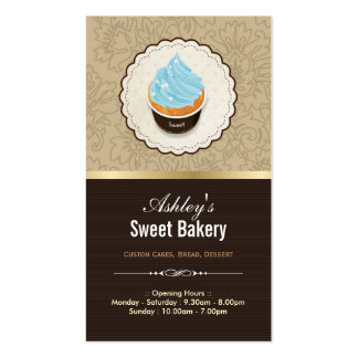 Sweet Bakery Shop - Cupcakes Chocolates Dessert Pack Of Standard Business Cards